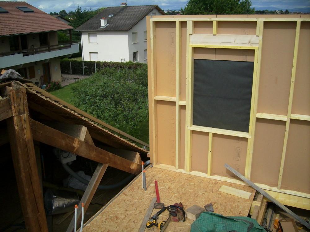 rehausse maison ossature bois cheap surlvation de maison en ossature bois montreuil with. Black Bedroom Furniture Sets. Home Design Ideas